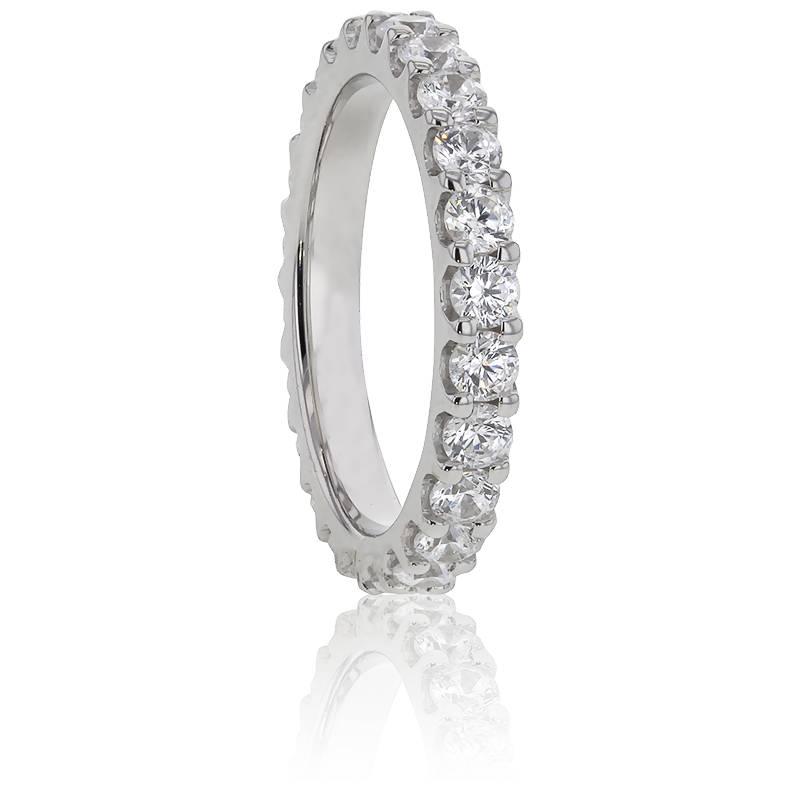 Alliance Bianca, Diamants GVS & Or Blanc 18K