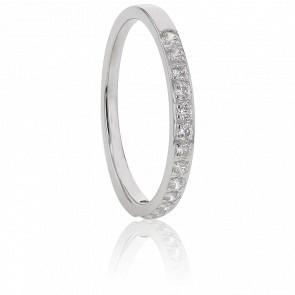 Alliance Cordélia, Diamants GSI & Or Blanc 18K