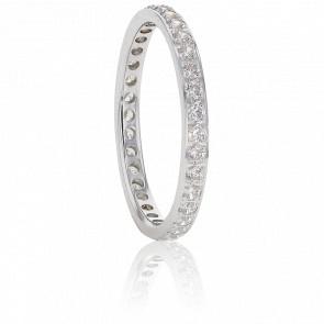 Alliance Eléonore, Diamants GSI & Or Blanc 18K
