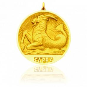 Médaille Zodiaque Signe du Capricorne Or Jaune 18K
