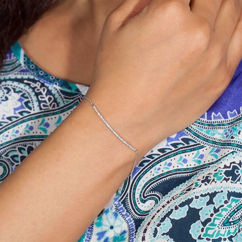 bracelet barrette en or blanc et diamants carat pour femme de la marque orph e sur ocarat. Black Bedroom Furniture Sets. Home Design Ideas
