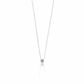 Collier Alvina Or Blanc & Diamants 0.055 ct