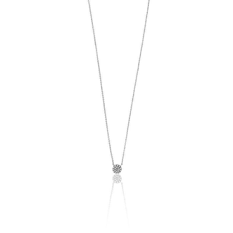 collier pastille en or blanc et diamants carat pour femme de la marque orph e sur ocarat. Black Bedroom Furniture Sets. Home Design Ideas