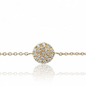 Bracelet Alvina Or Jaune & Diamants