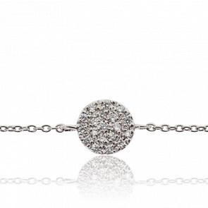 Bracelet Alvina Or Blanc & Diamants