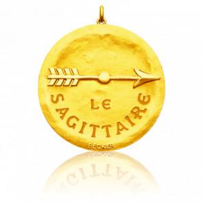 Médaille Zodiaque Signe du Sagittaire Or Jaune 18K