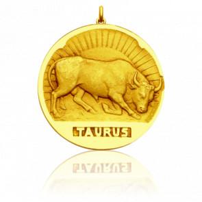 Médaille Zodiaque Signe du Taureau Or Jaune 18K