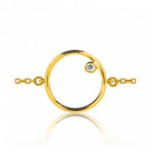 Bracelet Mini Circle Or Jaune 18K et Diamant