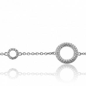 Bracelet Double Lune Diamantées