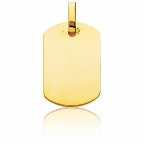Pendentif Plaque G.I 19 x 27 mm en or 18 carats