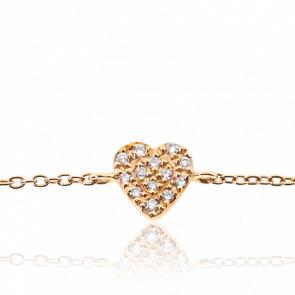 Bracelet Love me Or rose & Diamants