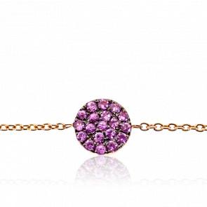 Bracelet Alvina Or Rose & Saphirs Roses