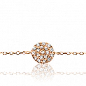 Bracelet Alvina Or Rose & Diamants