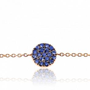 Bracelet Alvina Or Rose & Saphirs bleus