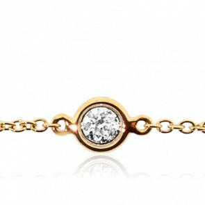 Bracelet Serti Clos Or Jaune