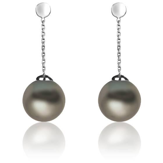 boucles d'oreilles pendantes perles