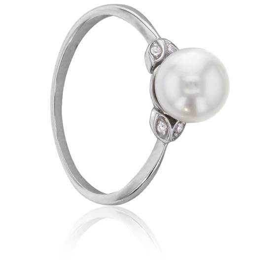 bague perle taille 46