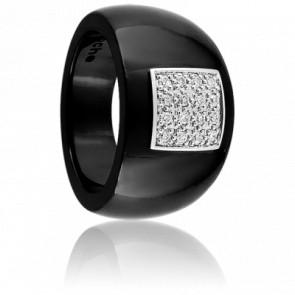 Bague Enchantement Noir et Diamants Blancs - Guy Laroche
