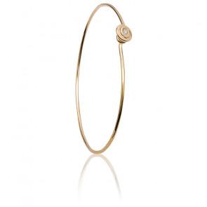 Bracelet Jonc Or Jaune 18K & Diamant
