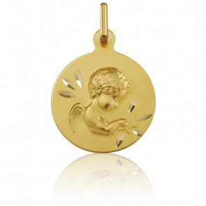 Médaille Ange Etoilé Or Jaune 18K
