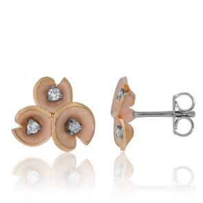 Boucles d'oreilles Salina Or rose