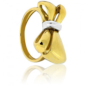 Bague Ischia Or jaune & Blanc