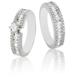 Duo alliance & solitaire Romeo diamants GVS