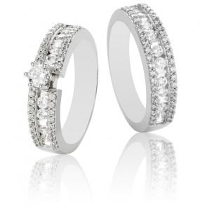Duo alliance & solitaire Romeo en diamants GSI