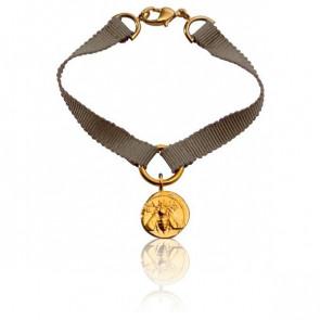 Bracelet Ephèse Ruban de Soie Beige - Monnaie de Paris