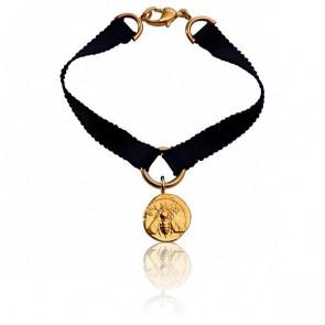 Bracelet Ephèse Ruban de Soie Gris - Monnaie de Paris