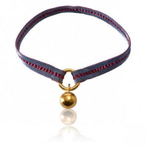Bracelet Apesanteur Ruban Argent et Bordeaux - Monnaie de Paris