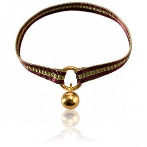 Bracelet Apesanteur Ruban Bordeaux et Vert - Monnaie de Paris