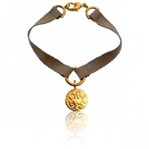 Bracelet Denier de Melle Ruban de Soie Beige - Monnaie de Paris