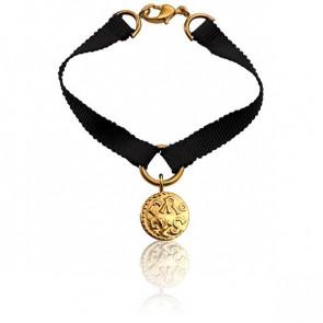 Bracelet Denier de Melle Ruban de Soie Gris - Monnaie de Paris