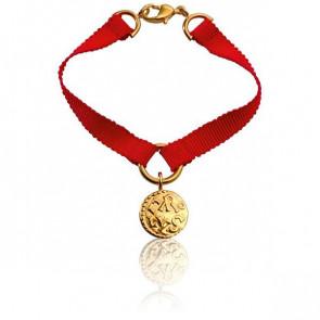 Bracelet Denier de Melle Ruban de Soie Rouge - Monnaie de Paris