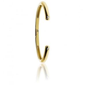 Bracelet Infinie Diamants & Vermeil Doré