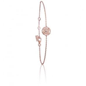 Bracelet Mini Dentelle Vermeil Or rose & Diamant