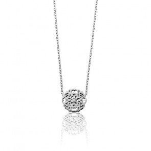 Collier Mini Dentelle Argent & Diamant