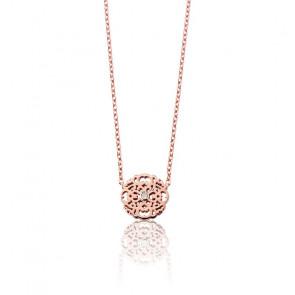 Collier Mini Dentelle Vermeil Or rose & Diamant