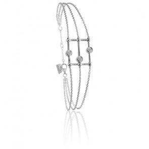 Bracelet Boulier Argent & Diamants
