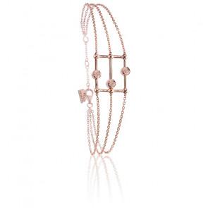 Bracelet Boulier Vermeil Or Rose & Diamants