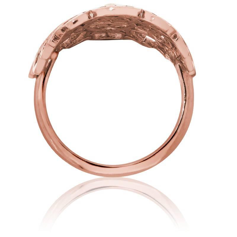 Préférence Bague grande dentelle en vermeil rose et diamants - Ocarat XW05