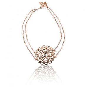 Bracelet Moyen Dentelle Vermeil Or rose & Diamants