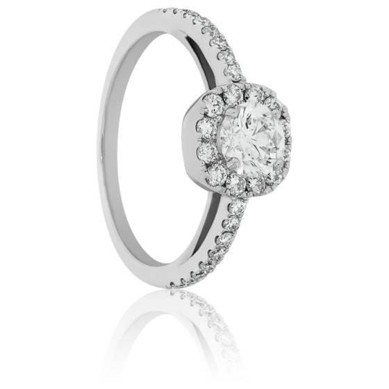 27aad67da07 Bague Diamant Royal Or Blanc 18K - Allegoria - Ocarat