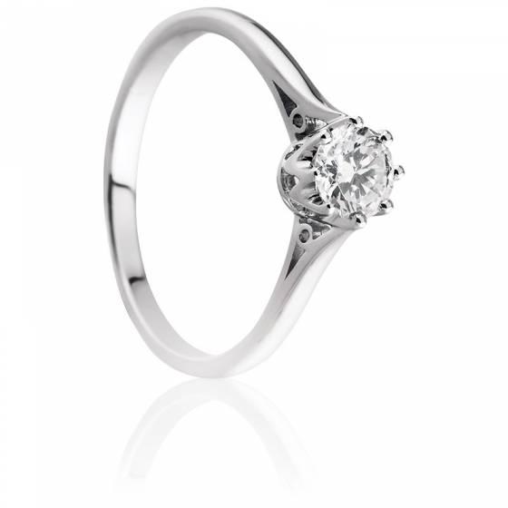 photo bague solitaire diamant