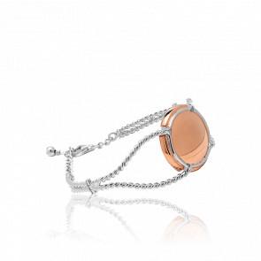 Bracelet Manchette Champ Rosé & Argent - Virginie Carpentier