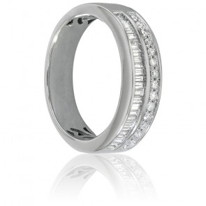 Alliance Naida Or Blanc et Diamants 0,50 Ct