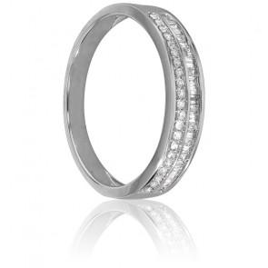 Alliance Naida Or Blanc et Diamants 0,35 Ct