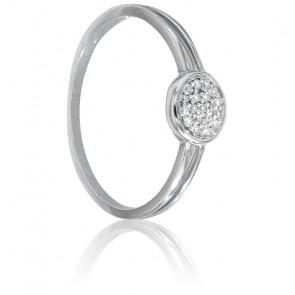 Bague Nissa Or Blanc & Diamants