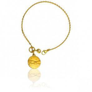 Bracelet Petit Prince Couché Dans l'Herbe et Diamant - Monnaie de Paris